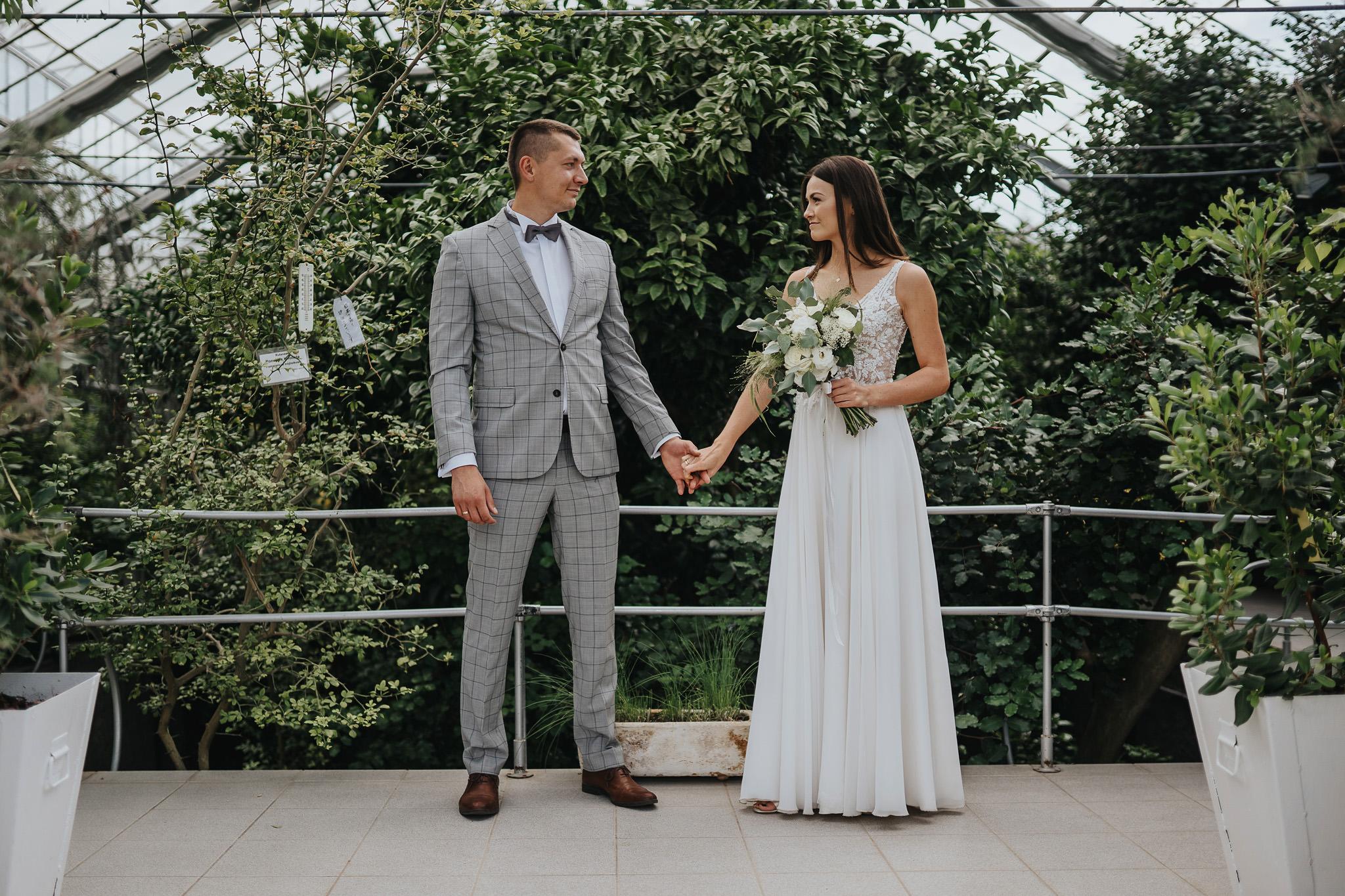 Sesja poślubna w oranżerii 3