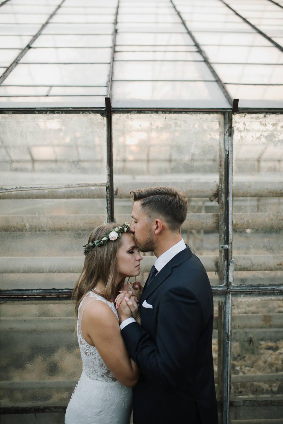 Sesja ślubna w stodole i szklarni 244