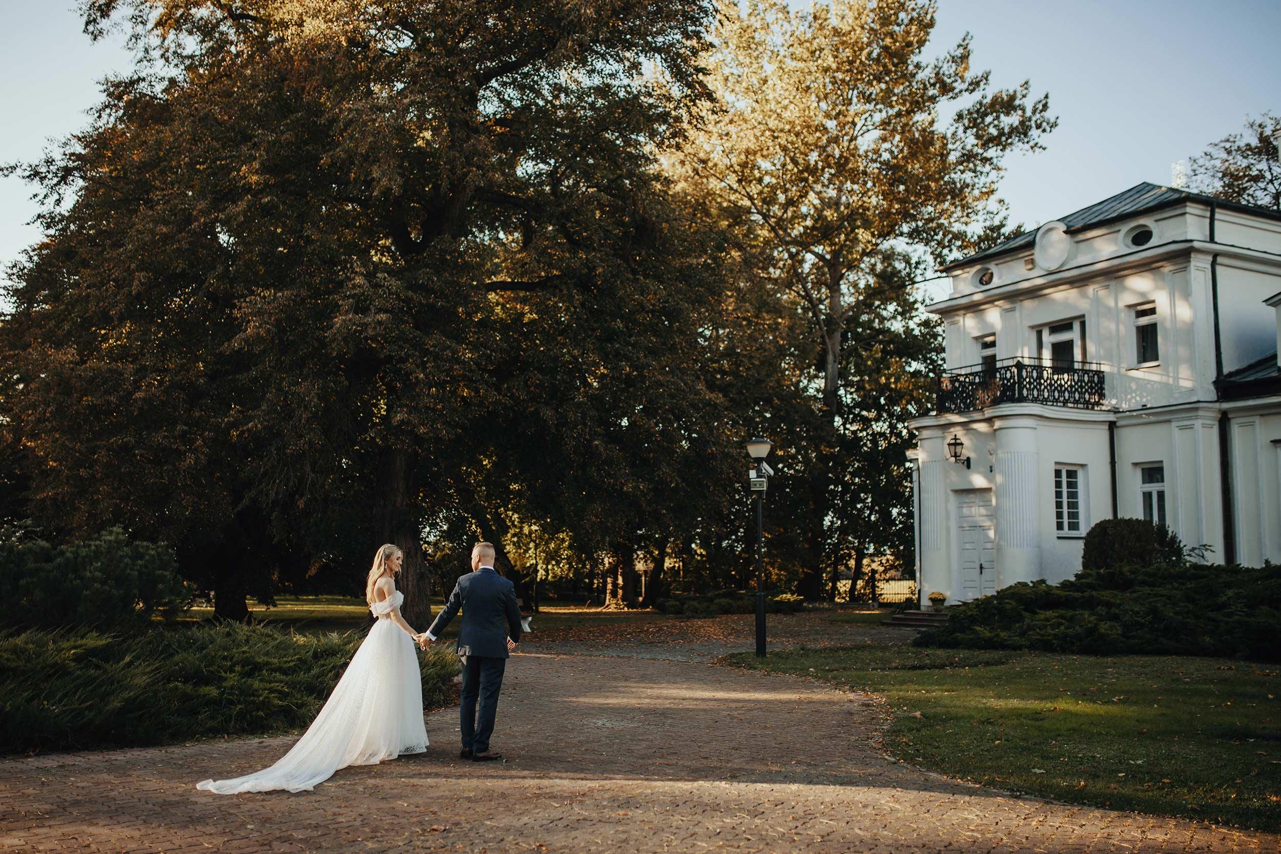 Sesja ślubna w pałacu Ślężany 35